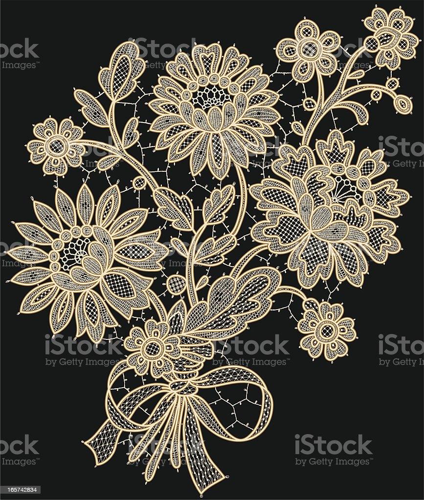 Lace bouquet vector art illustration