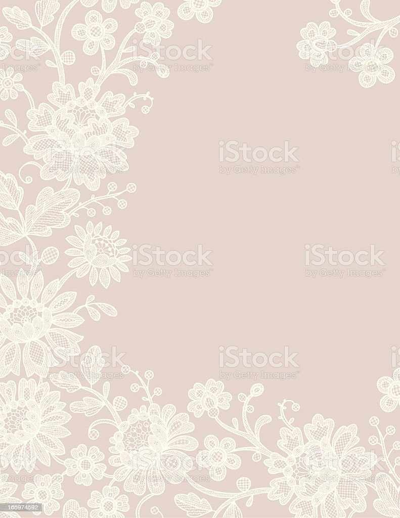 Lace Card. Frame. vector art illustration