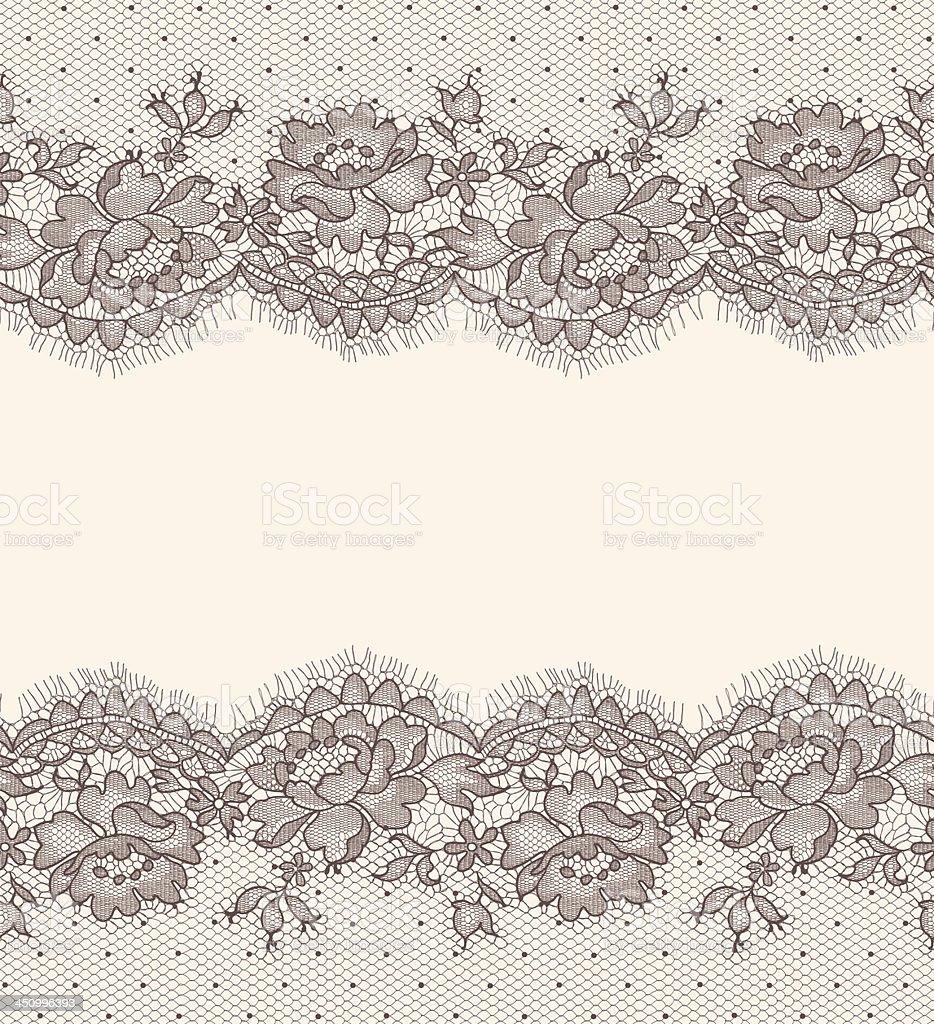 Lace card. Horizontal Seamless Pattern. vector art illustration