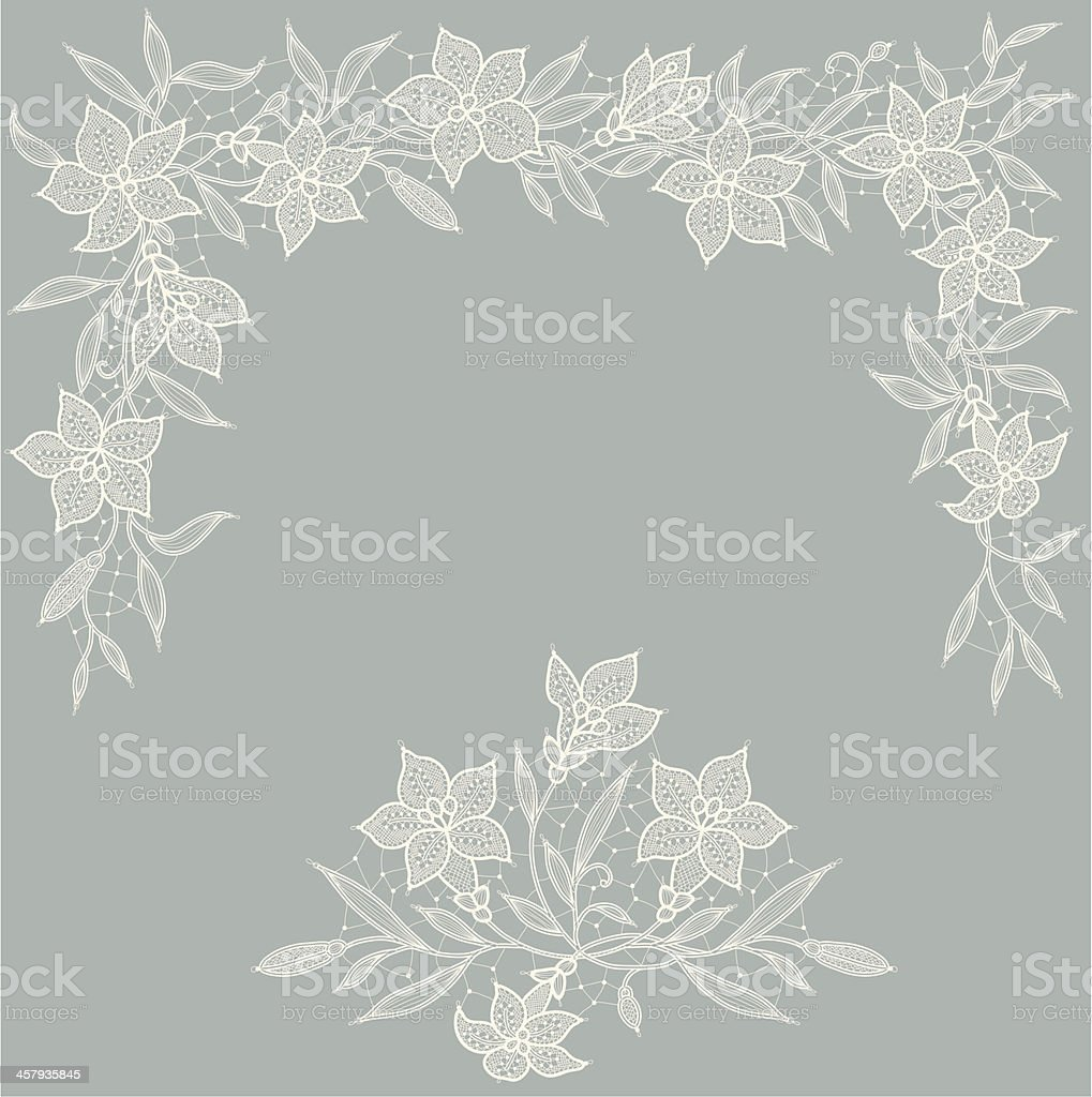 Lace. Card. Lily Garland. royalty-free stock vector art