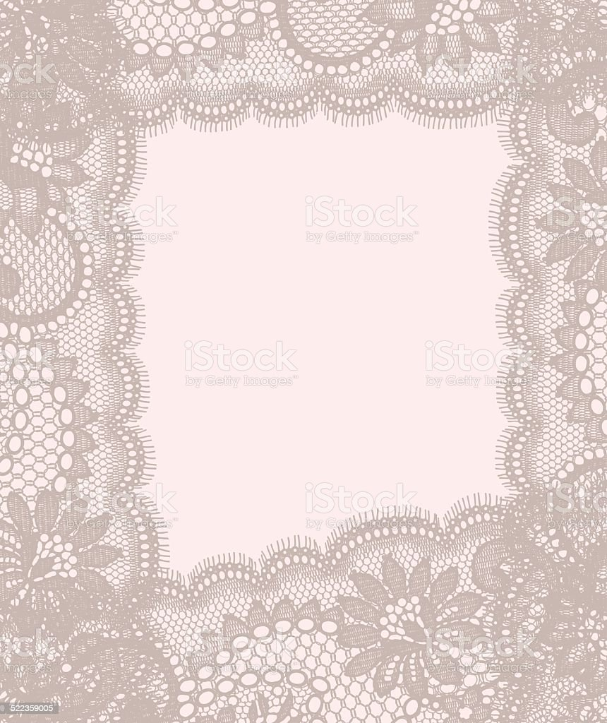 Lace Card. Pastel Colored Background. vector art illustration