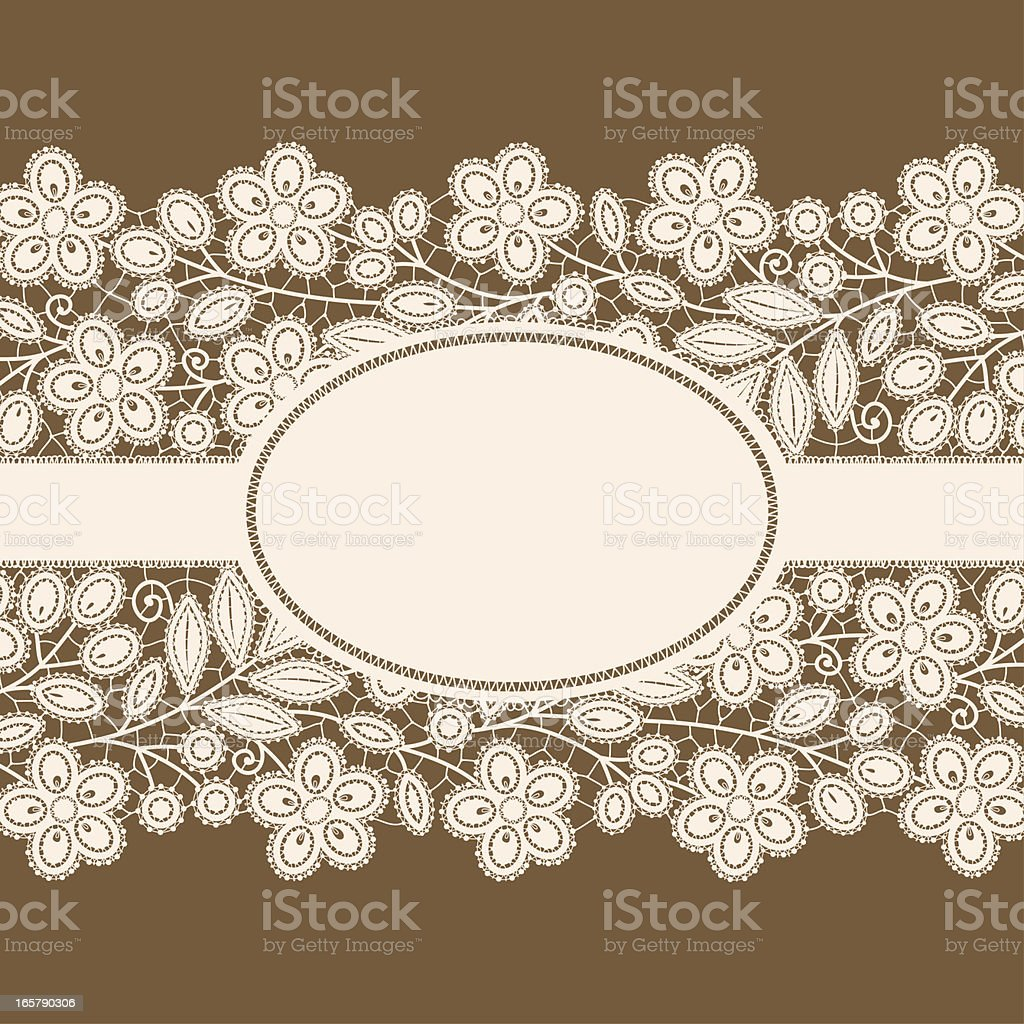 Lace card. vector art illustration