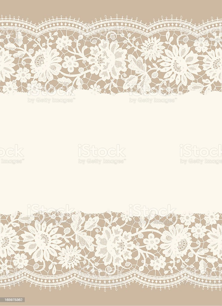 Lace Card. royalty-free stock vector art