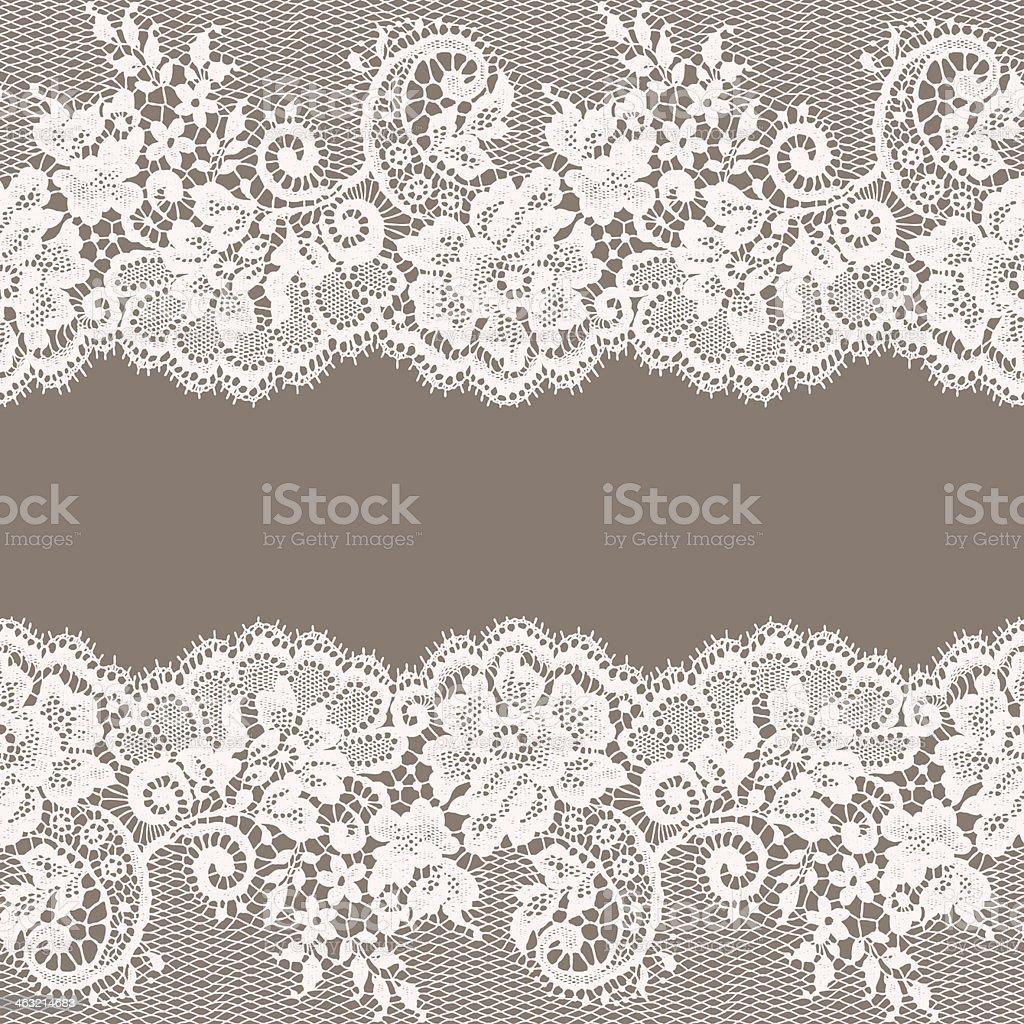 Lace card vector art illustration