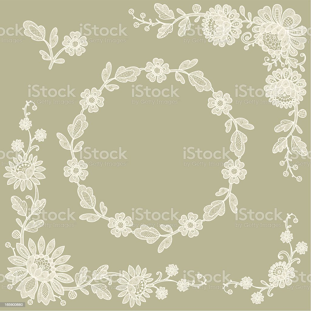 Lace Corners. Frame. royalty-free stock vector art