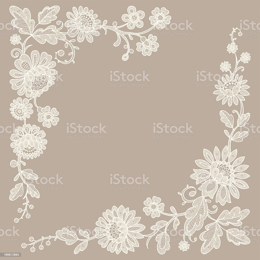 Lace. Corners. vector art illustration