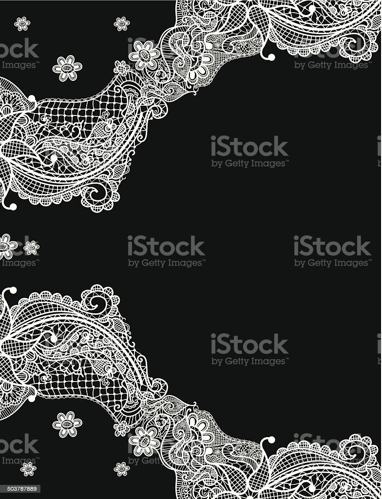 Lace Designed Template vector art illustration