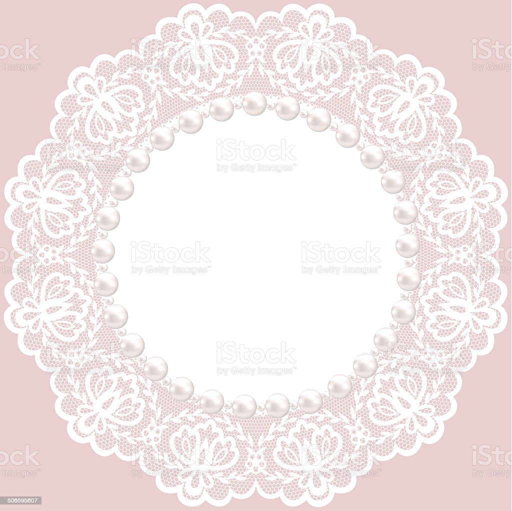 lace doily vector art illustration