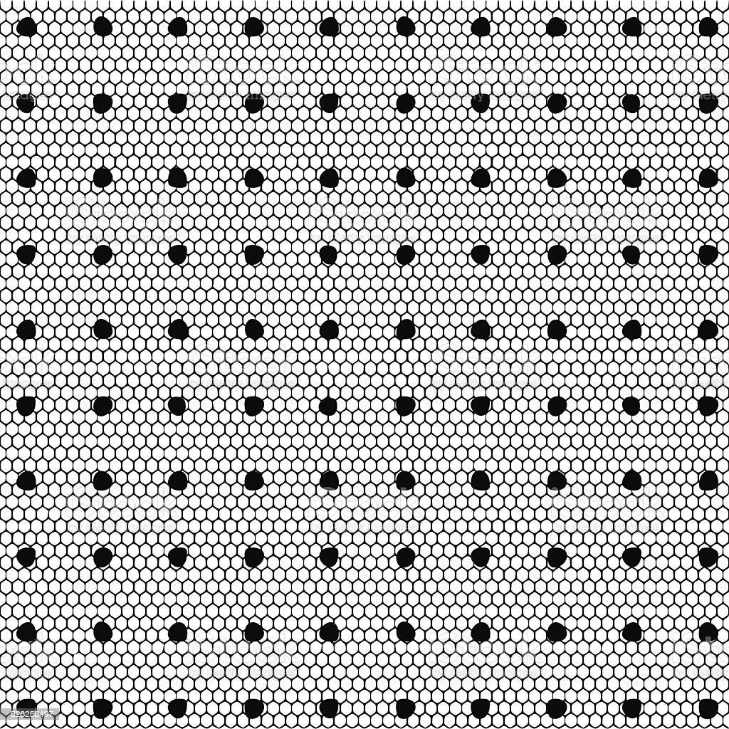 Lace dotted pattern vector illustration vector art illustration