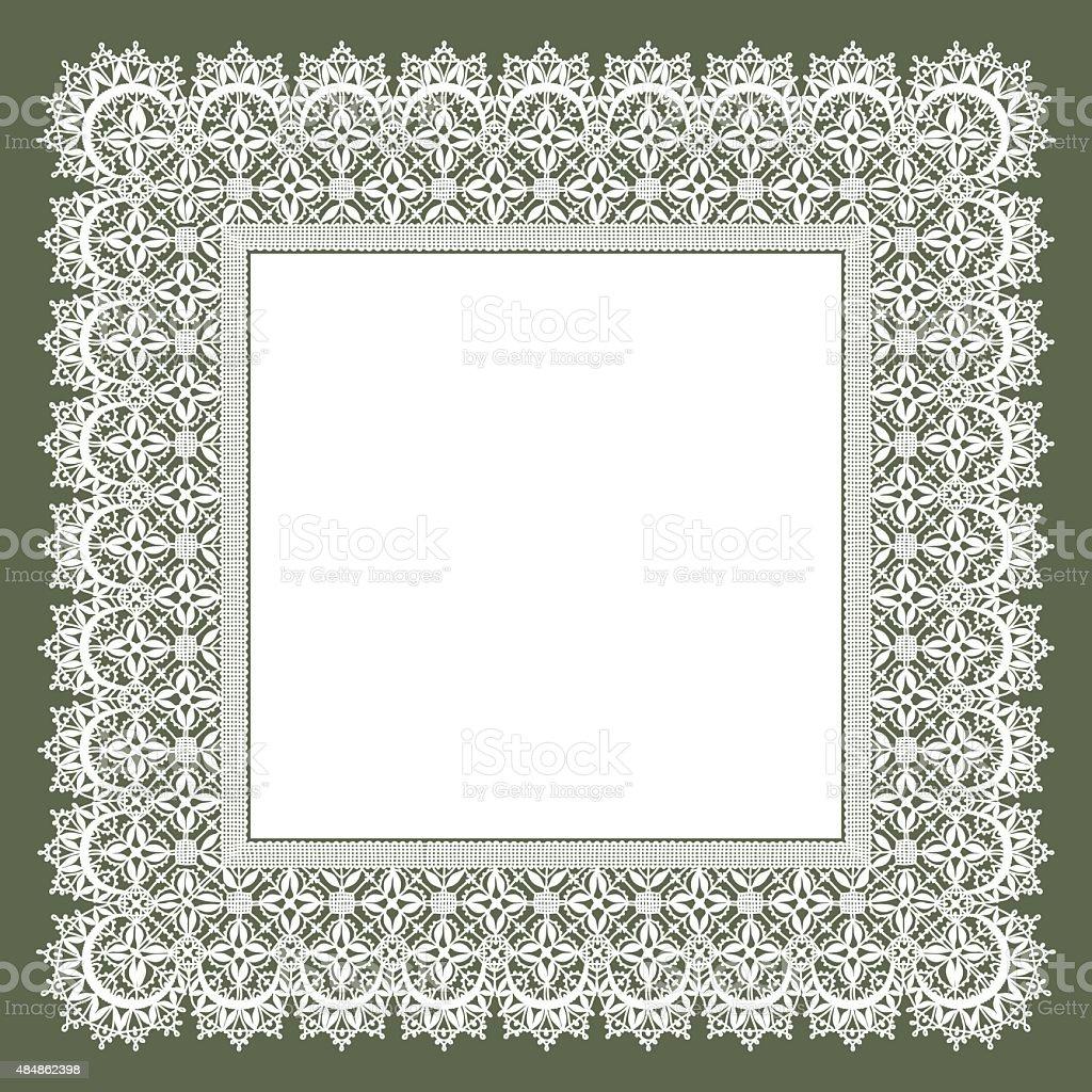Lace Frame. vector art illustration