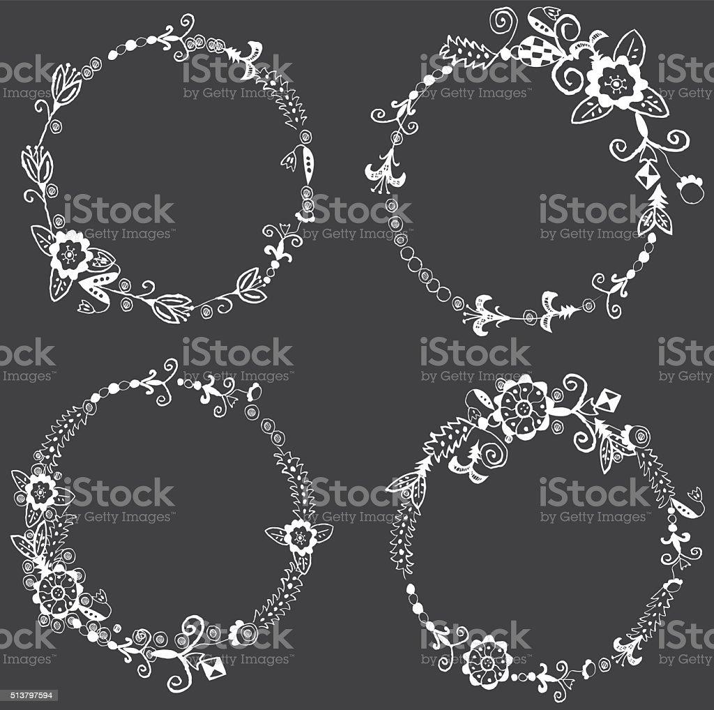lace frame vector art illustration