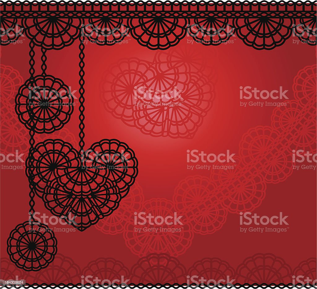 lace heart royalty-free stock vector art