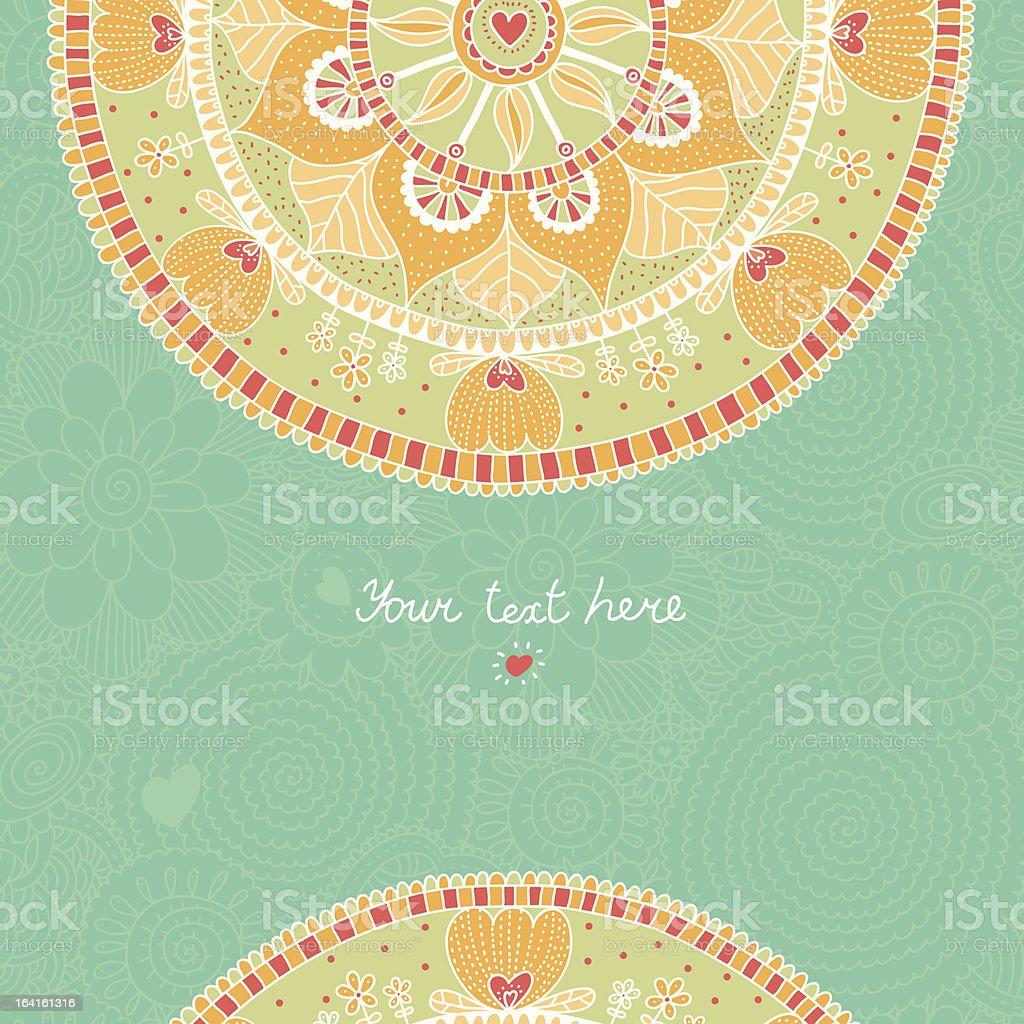 Lace invitation card vector art illustration