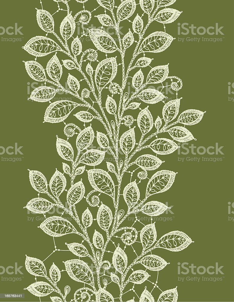 Lace leaves vertical seamless pattern. royalty-free stock vector art