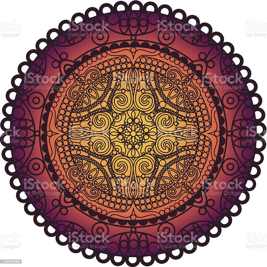 lace mandala royalty-free stock vector art