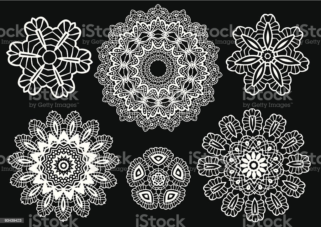 Lace pattern, vector royalty-free stock vector art