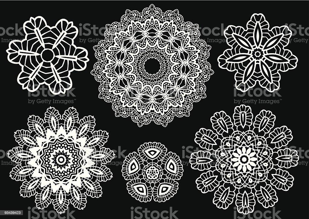 Lace pattern, vector vector art illustration