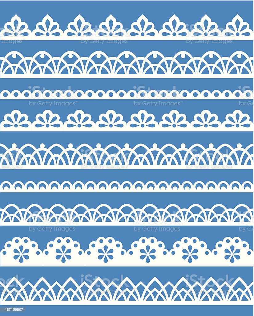 Lace patterns vector art illustration