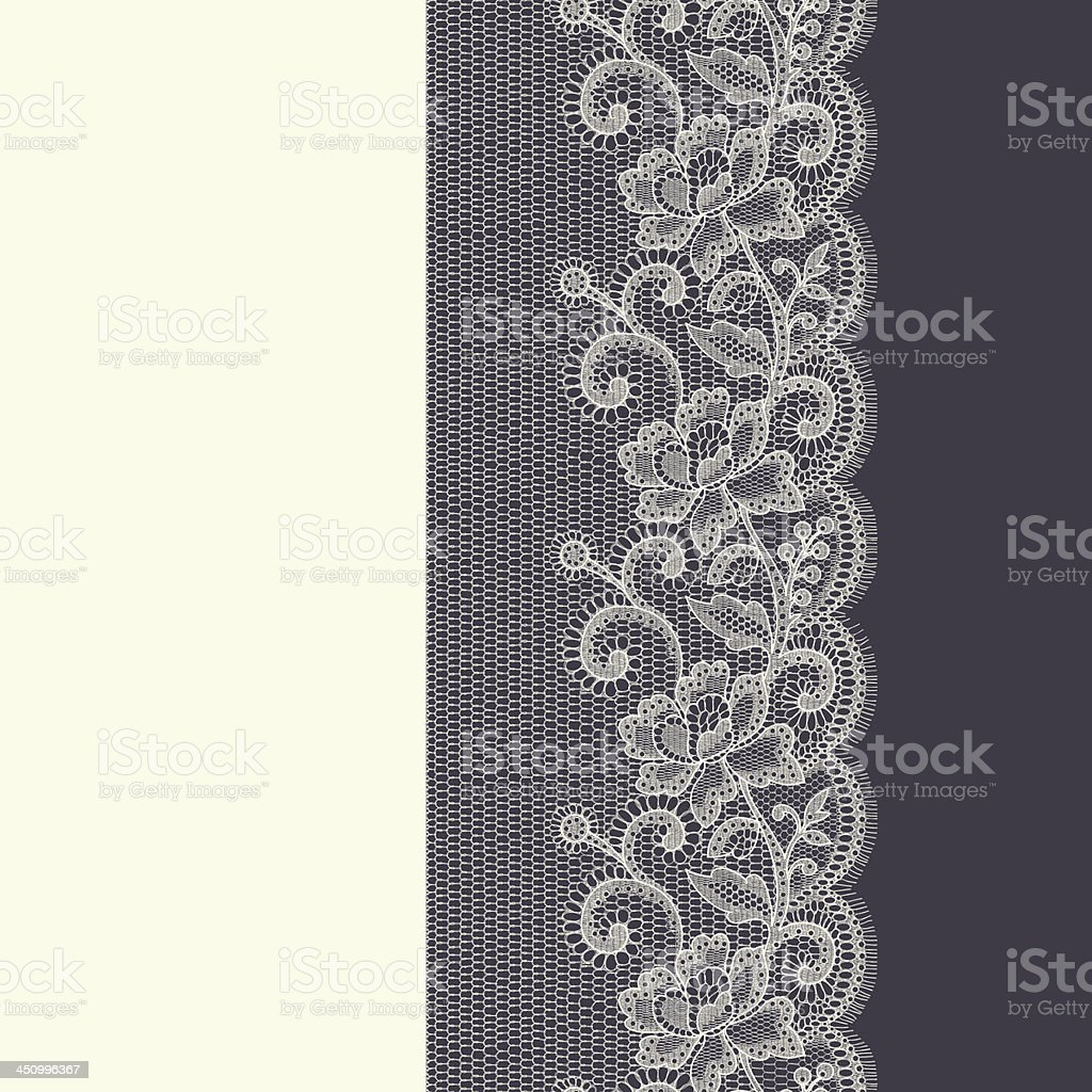 Lace Ribbon seamless pattern royalty-free stock vector art