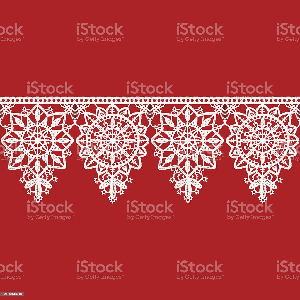 Lace Ribbon Seamless Pattern vector art illustration