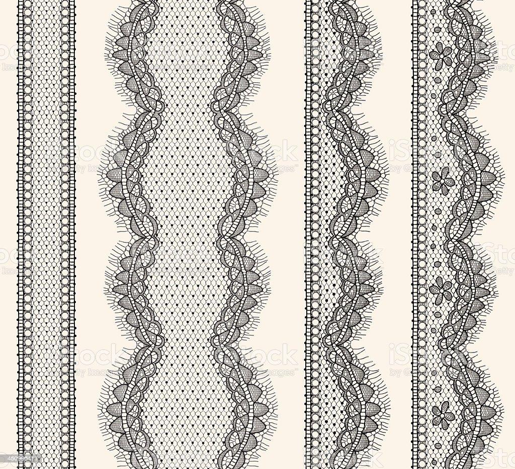 Lace Ribbons Seamless Pattern. vector art illustration