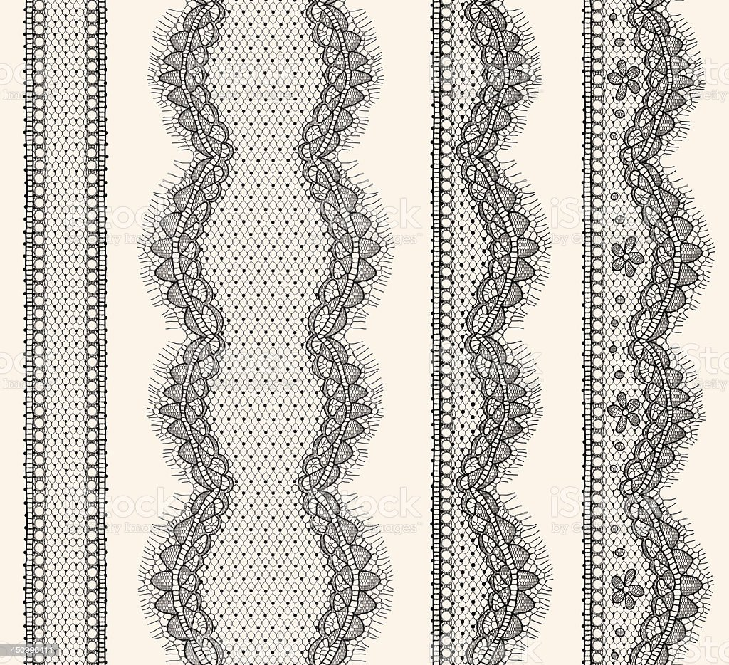 Lace Ribbons Seamless Pattern. vector art illustration