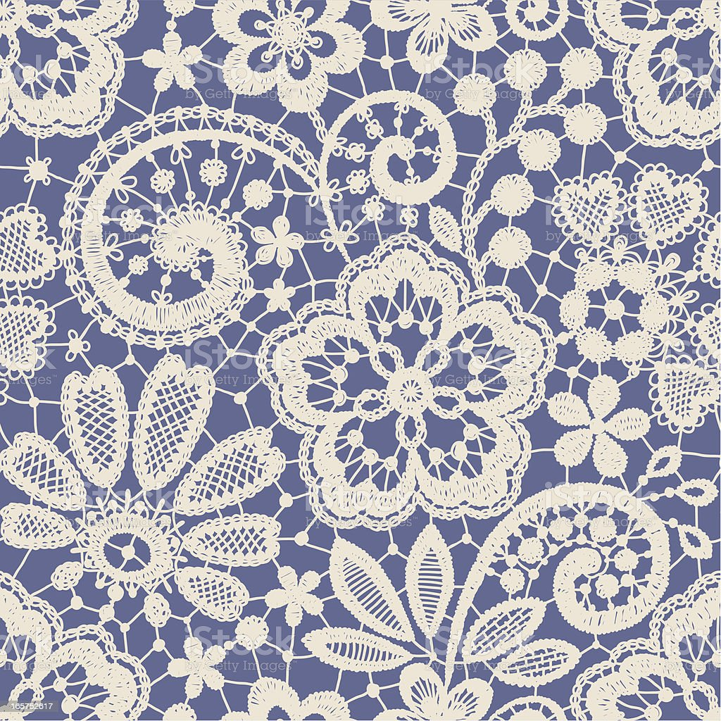 Lace Seamless Pattern. Blue backgrounds. vector art illustration