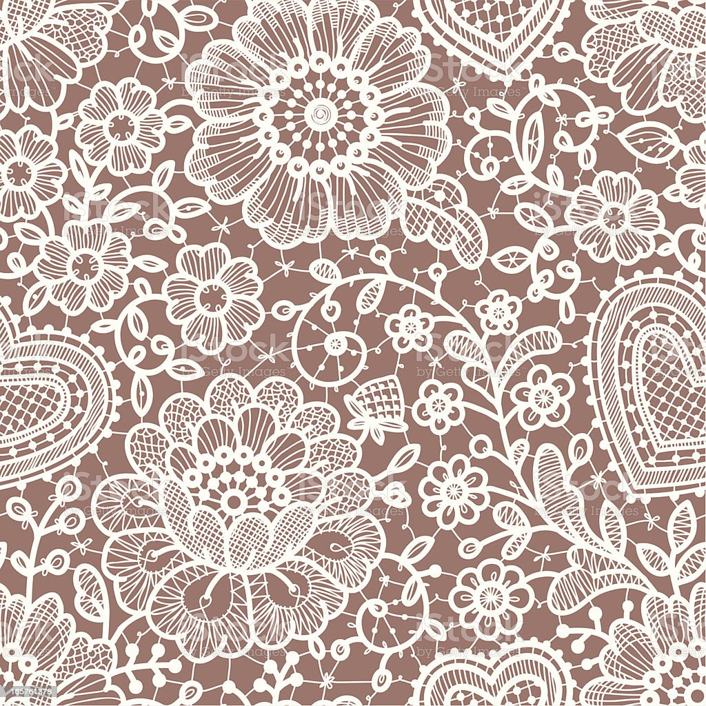 Lace seamless pattern. royalty-free stock vector art
