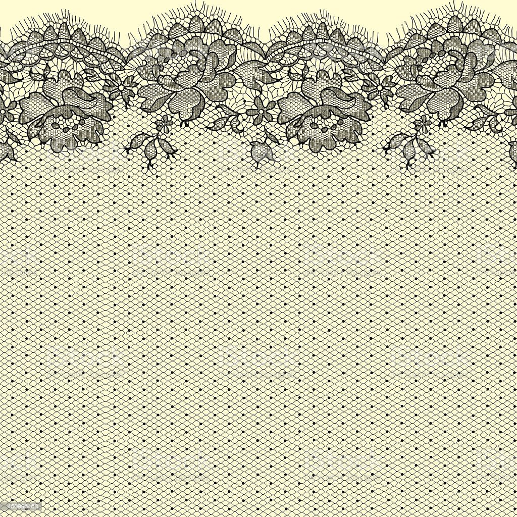 Lace. Seamless pattern. vector art illustration