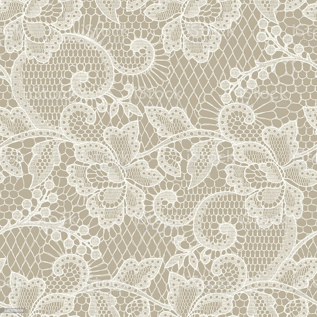 Lace Seamless Pattern. vector art illustration