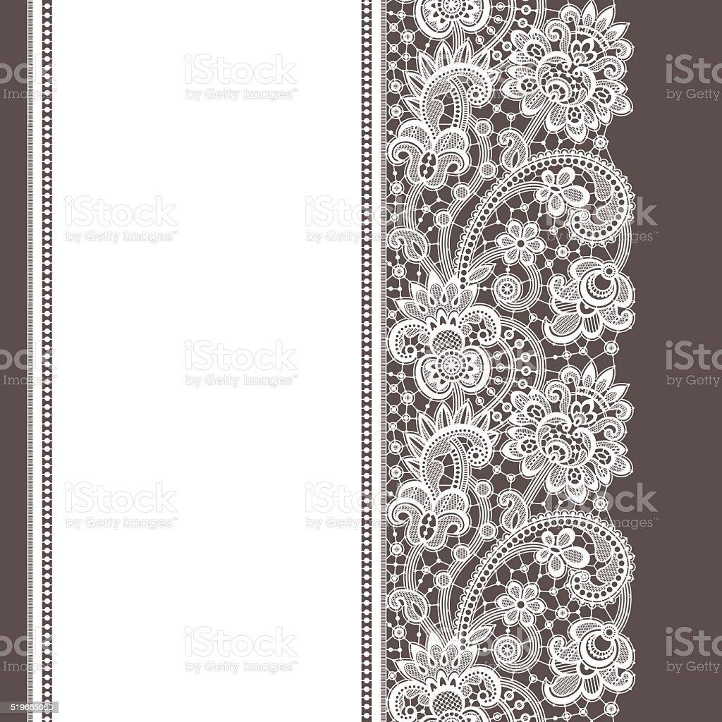 Lace Seamless Pattern. vector art illustration