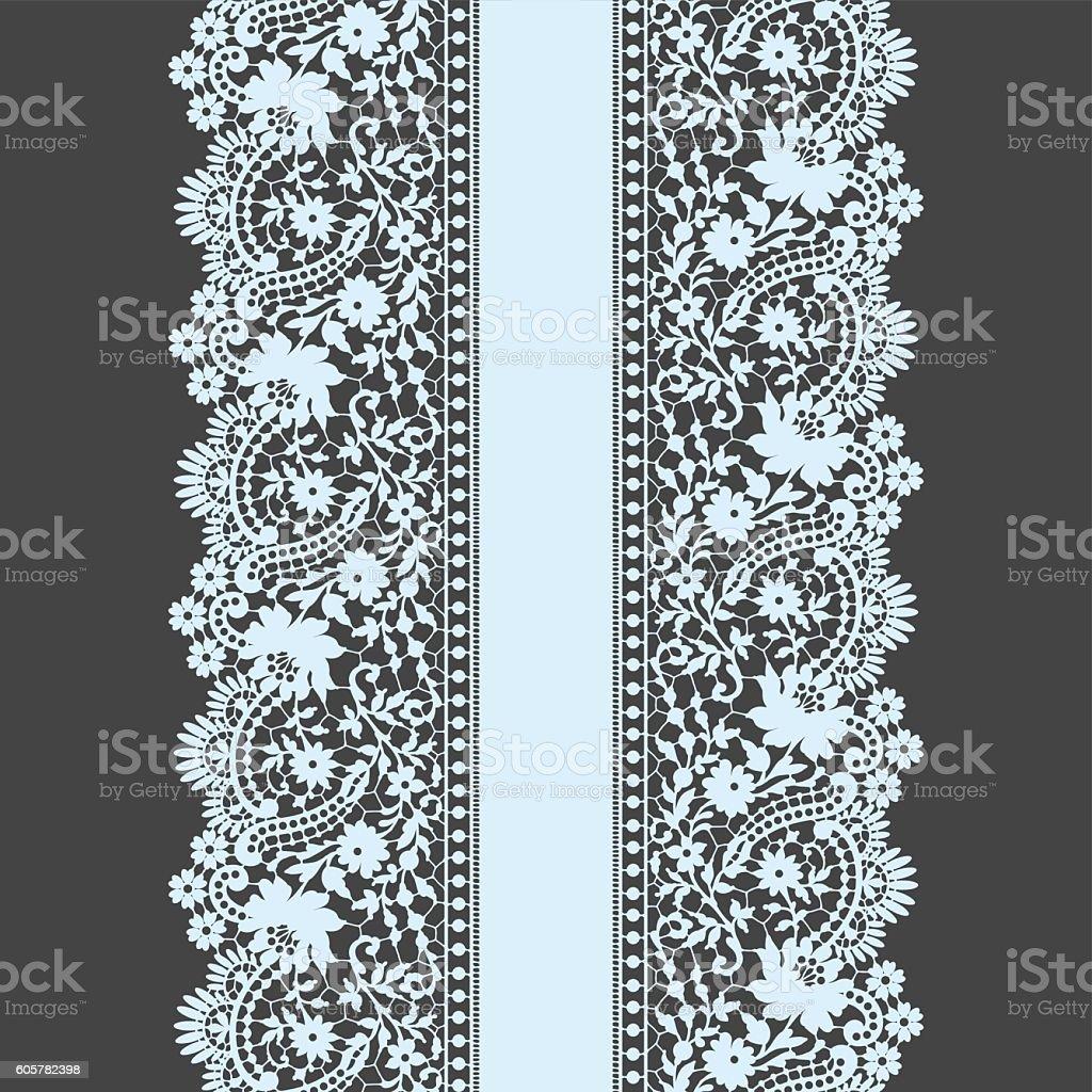 Lace Seamless Pattern vector art illustration
