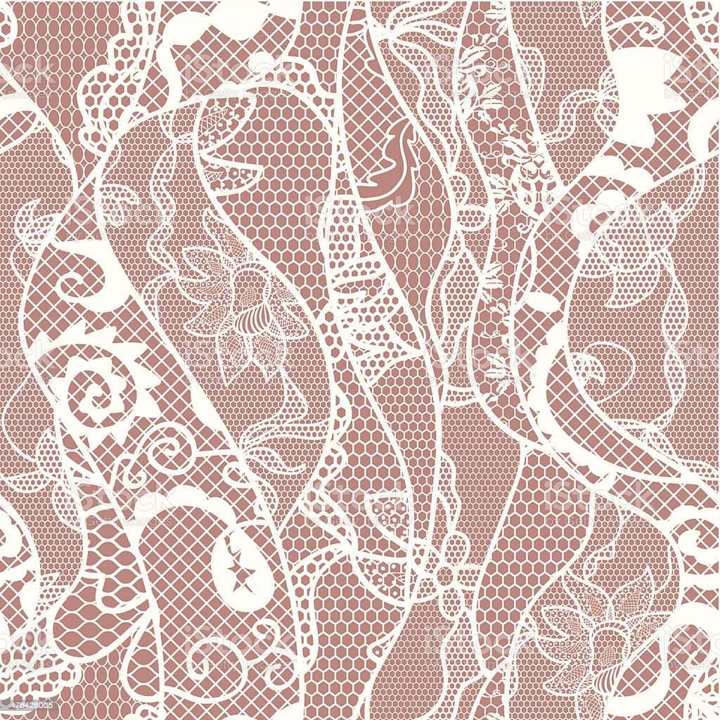 Lace seamless pattern with flowers royalty-free stock vector art