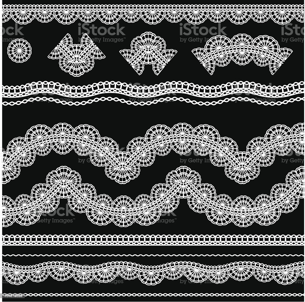 lace set 6 royalty-free stock vector art