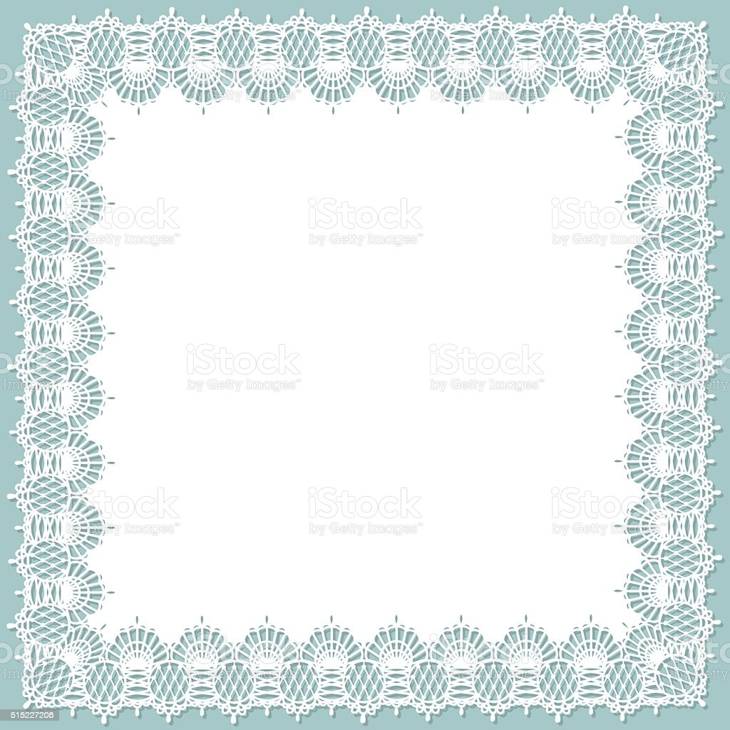 Lace Square vector art illustration