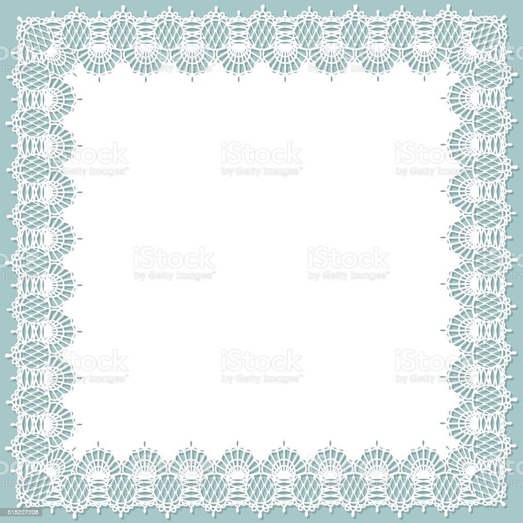 Lace Square vector art illustration