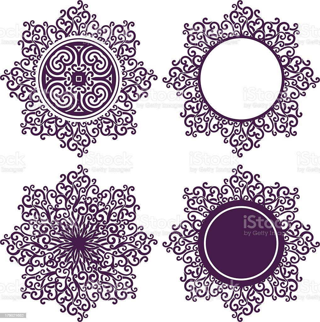 lace sun set vector art illustration