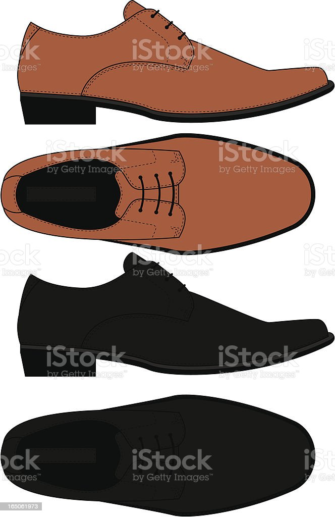 Lace Up Formal Dress Shoe vector art illustration