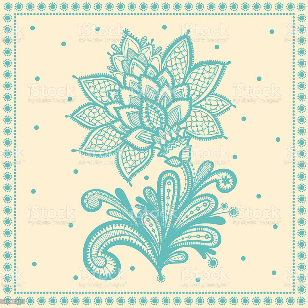 Lace vector design. vector art illustration