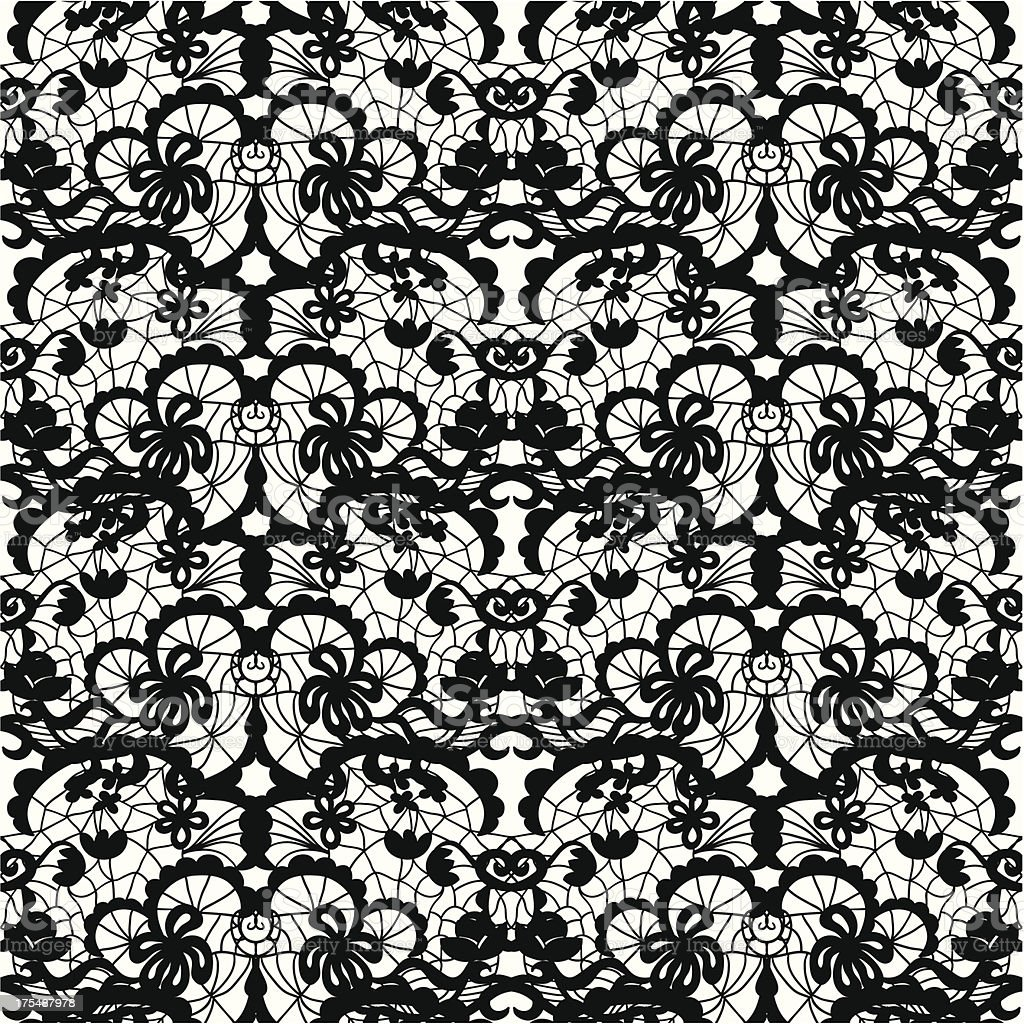 Lace vector fabric seamless pattern royalty-free stock vector art
