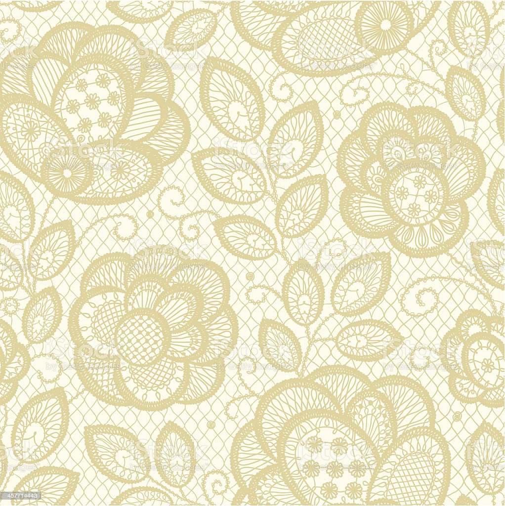 Lace vector art illustration