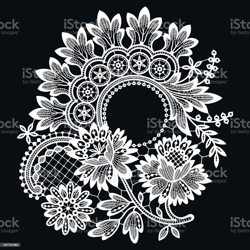 Lace. vector art illustration