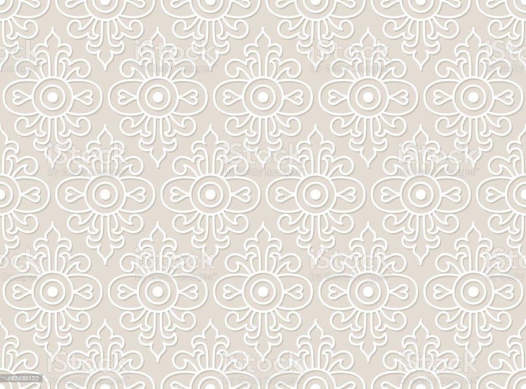 Lace Vector Seamless Pattern, Tiling. vector art illustration