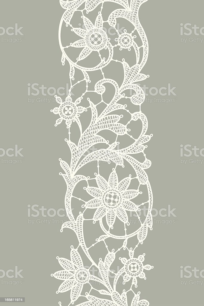 Lace Vertical Seamless Pattern. royalty-free stock vector art