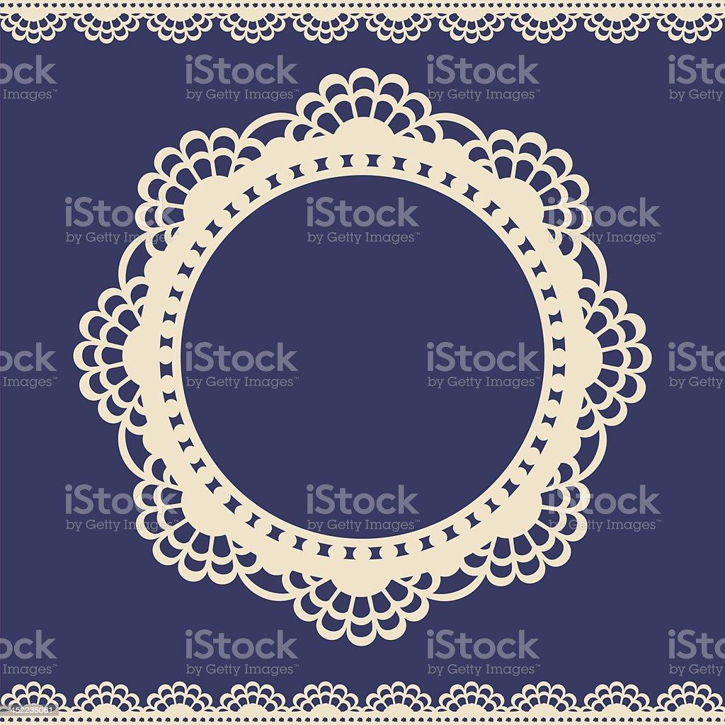 Lace vintage label vector art illustration