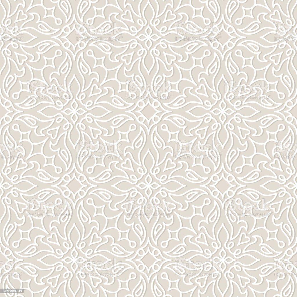 Lace wedding vector seamless pattern, tiling. vector art illustration