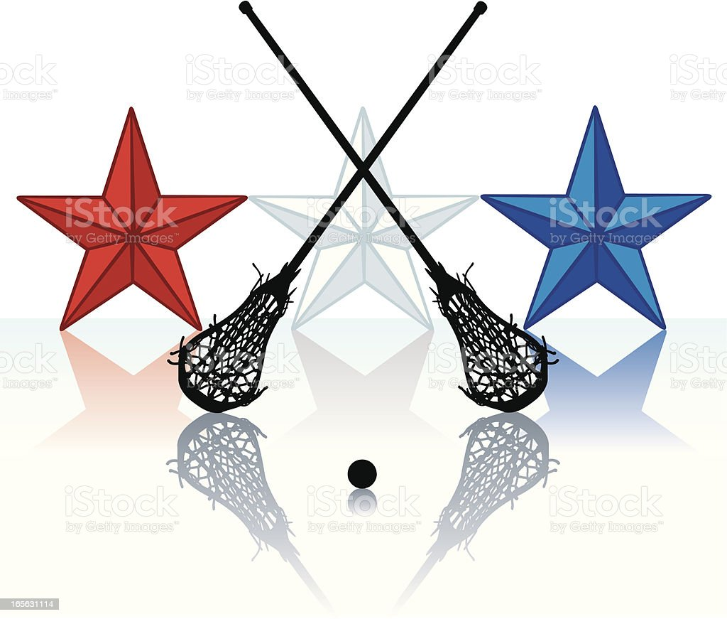 Lacrosse All-Star - Female royalty-free stock vector art