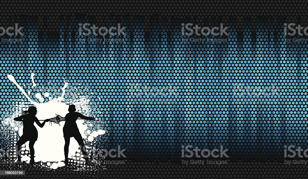 Lacrosse Face Off Background - Girls royalty-free stock vector art