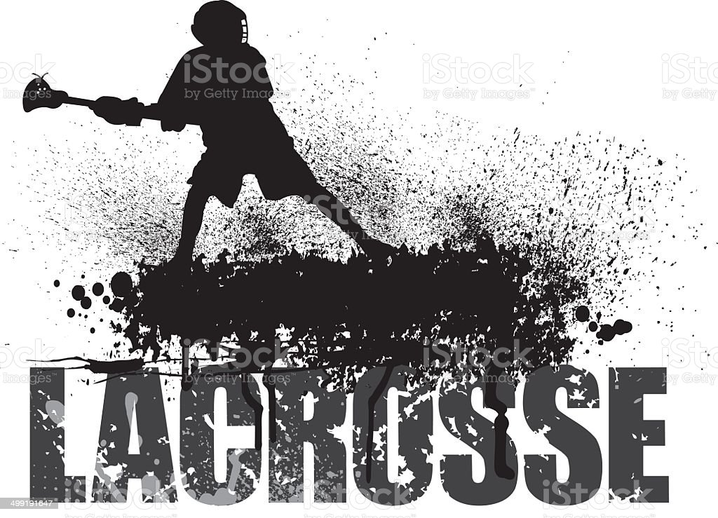 Lacrosse Grunge Background royalty-free stock vector art