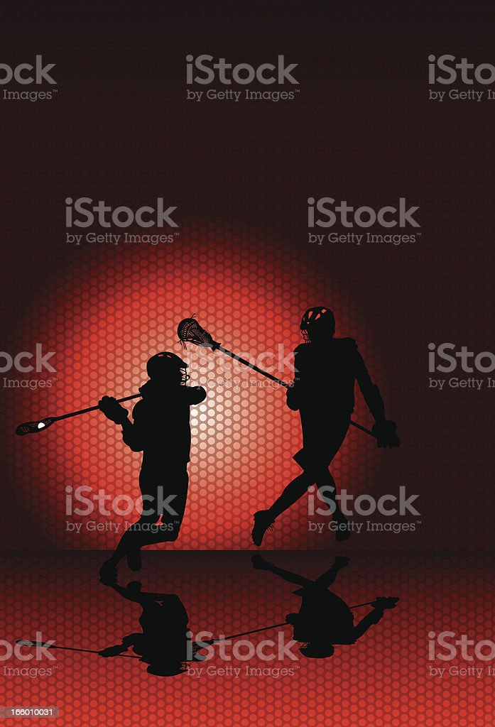 Lacrosse Players Background royalty-free stock vector art